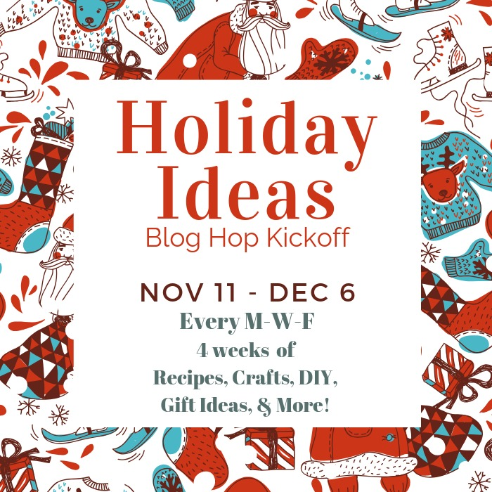 Image providing dates for the Holiday Ideas Blog Hop