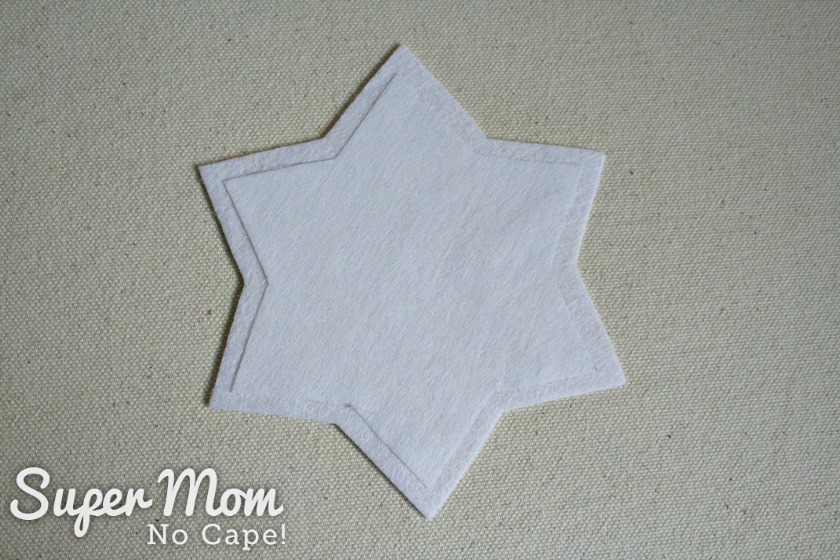 Interfacing fused to the white felt star