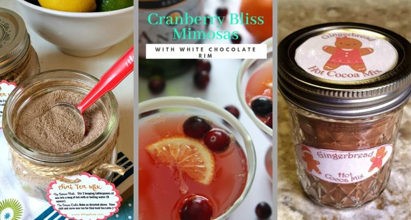 Mason Jar Food Gift and Cranberry Mimosa Drink Recipe