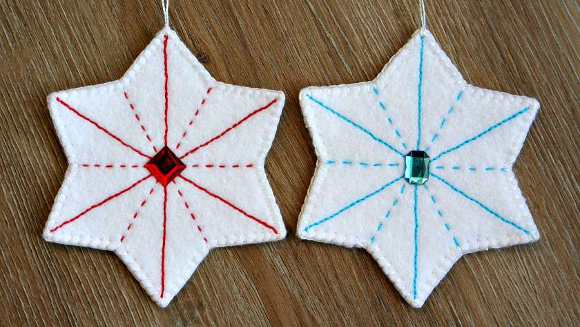 Embroidered Felt Star Ornament