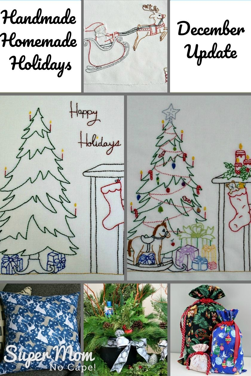 Collage photo of project made for the Handmade Homemade Holidays members.