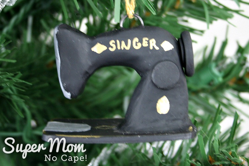 Mini Singer sewing machine made out of clay