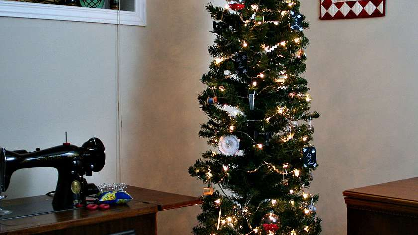 Sewing Themed Christmas Tree