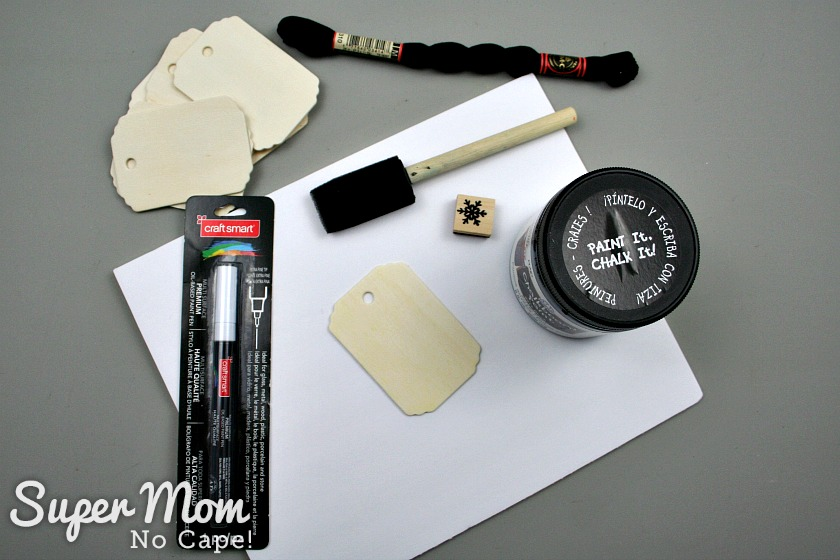 Supplies for making Let It Sew ornament