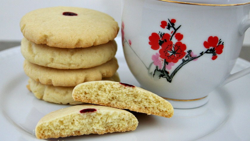 Red Dot Almond Cookies for Chinese New Year