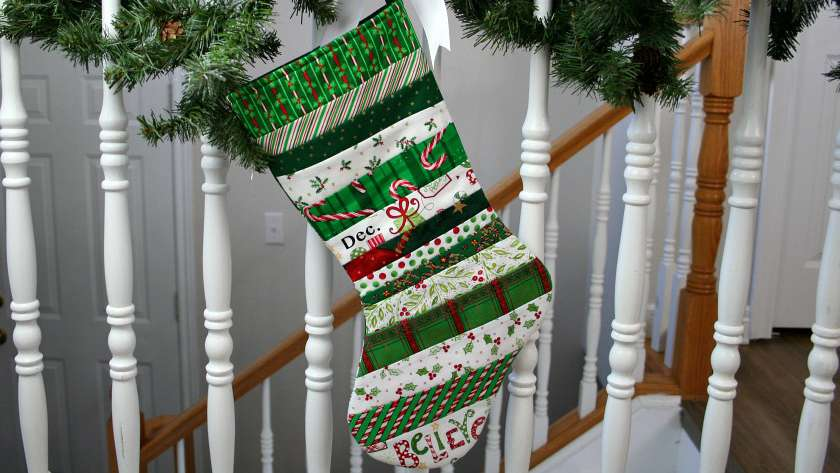 Quilt As You Go Christmas Stocking Tutorial
