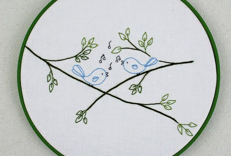 """<span itemprop=""""name"""">Songbirds Embroidery Pattern</span>"""