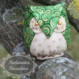 Archimedes Owl Pincushion
